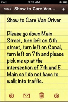 Show to Care Van Driver