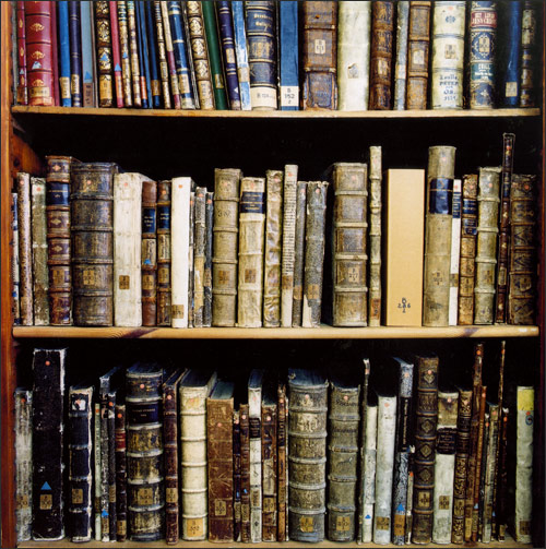 Photo of books in a Library